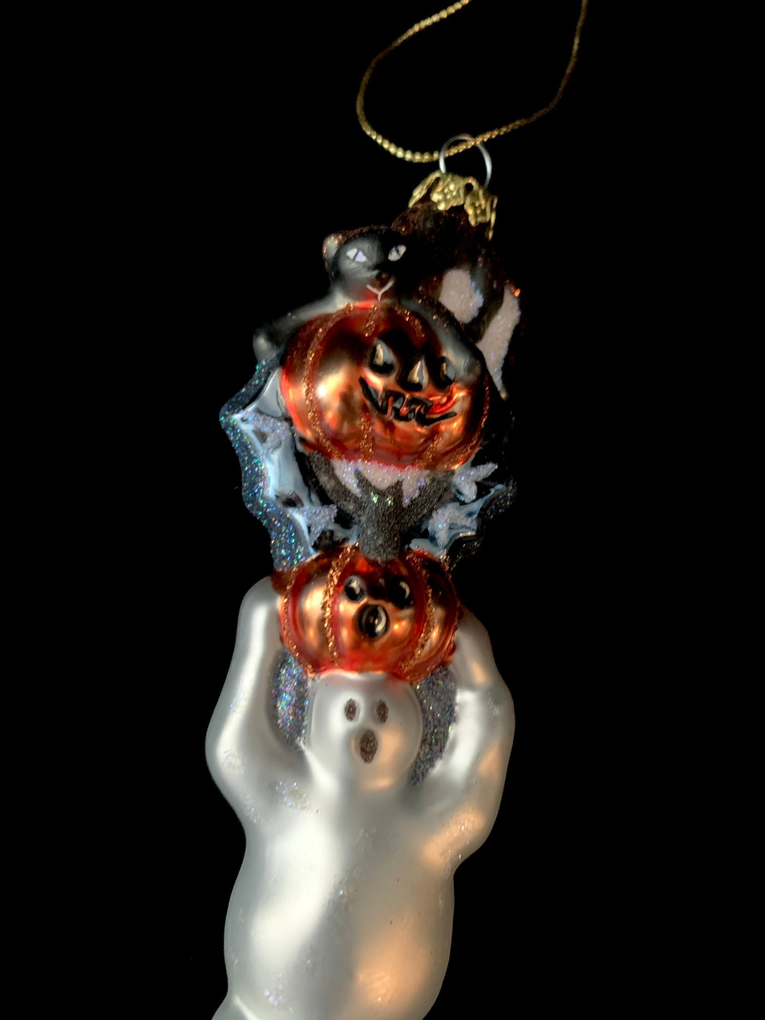 Halloween Peggy Abrams Glass Ornament