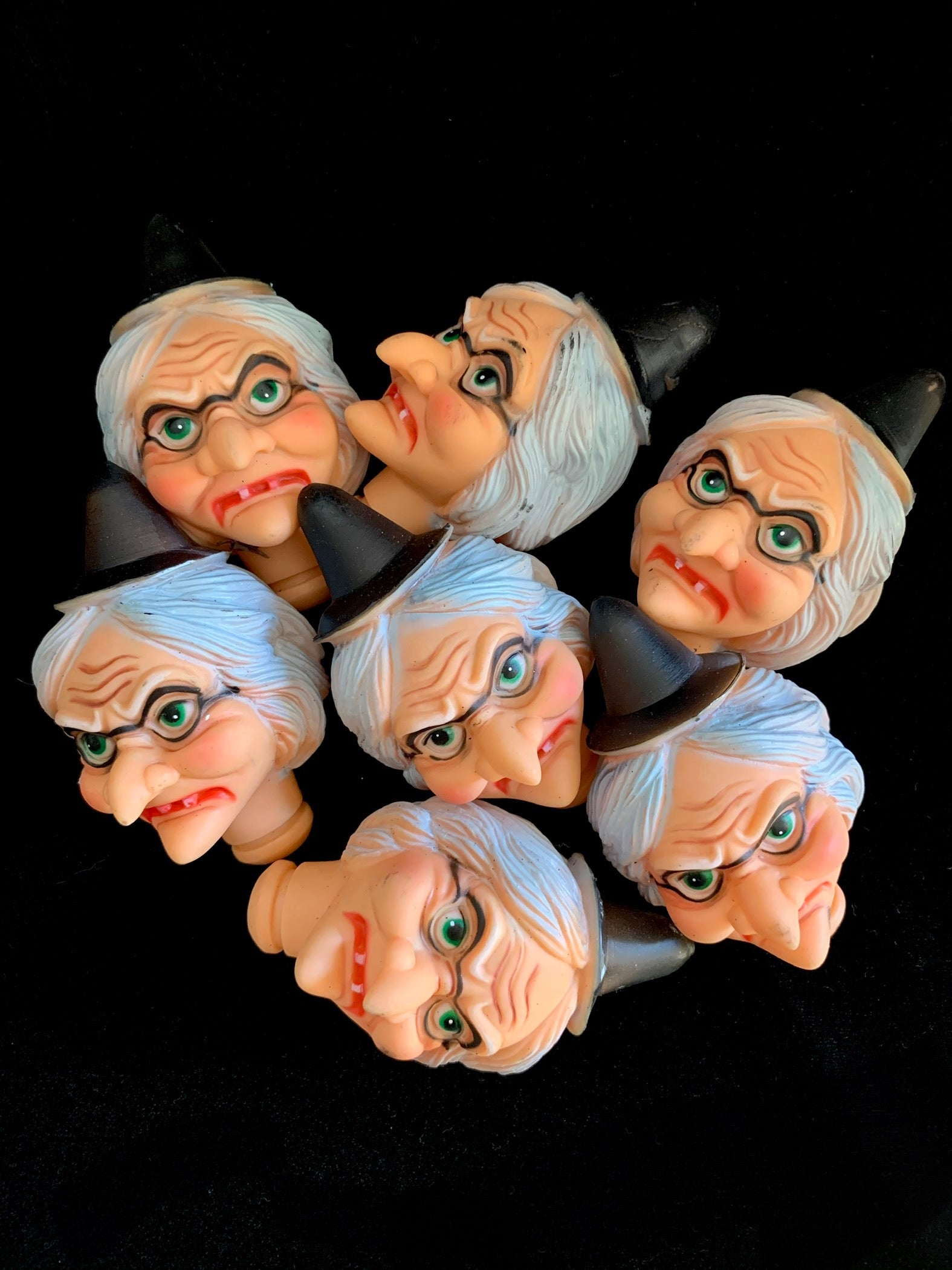 Grumpy Witch Doll Heads