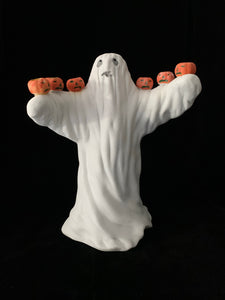 Ghost Candle Holder - Vintage 1980s Celebrations by Silvestri