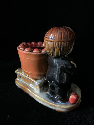 """Bob for Apples"" Ceramic Votive Candle Holder"