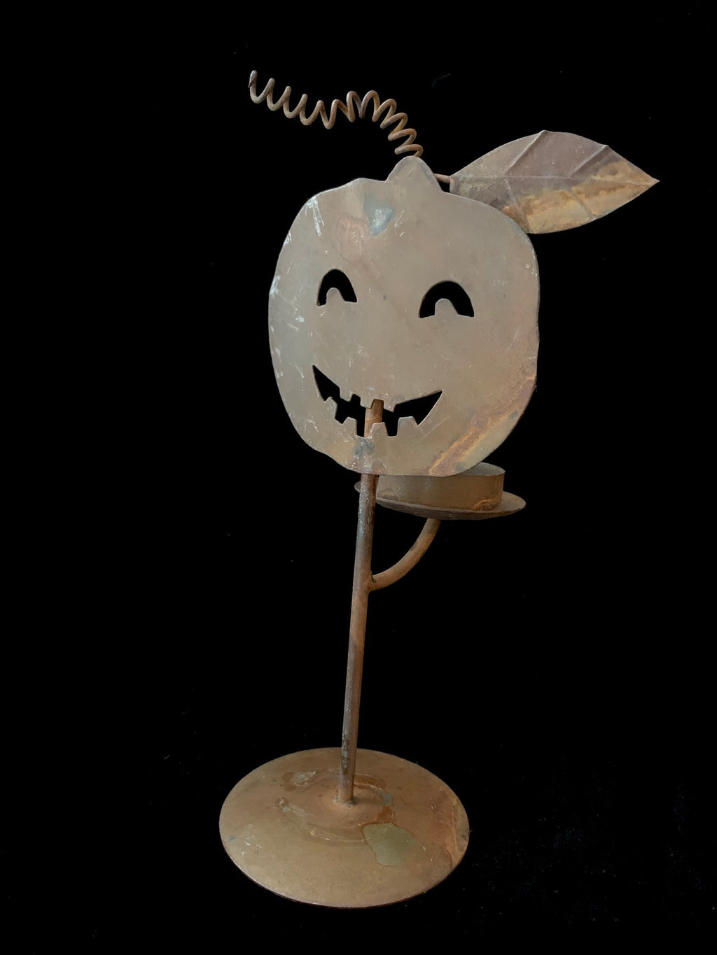 Rusty Jack O'Lantern Votive Holder