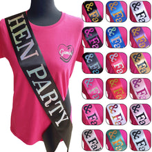Load image into Gallery viewer, Hen Party Holographic Sash