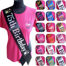 Load image into Gallery viewer, 75th Birthday Holographic Star Sash