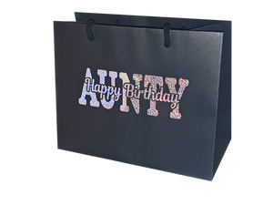 Happy Birthday Gift Wrap Bags - Family