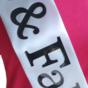 Custom Graduation Holographic Sash - Double Line