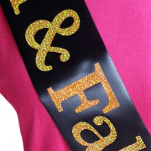 Load image into Gallery viewer, 16 and Fabulous Holographic Birthday Sash