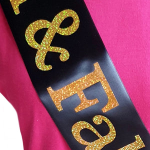 30 and Fabulous Holographic Birthday Sash