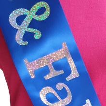 Load image into Gallery viewer, 65 and Fabulous Holographic Birthday Sash