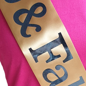 60 and Fabulous Holographic Birthday Sash