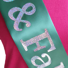 Load image into Gallery viewer, 45 and Fabulous Holographic Birthday Sash