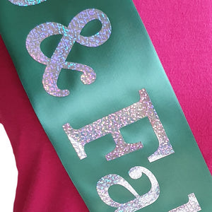 Custom Holographic Sash - Single Line