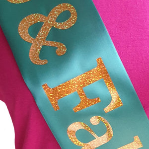55 and Fabulous Holographic Birthday Sash
