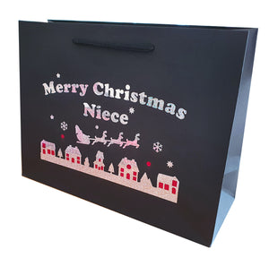 Merry Christmas Gift Wrap Bags - Family