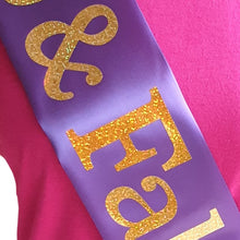 Load image into Gallery viewer, 80 and Fabulous Holographic Birthday Sash