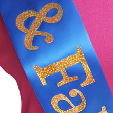 Load image into Gallery viewer, 55 and Fabulous Holographic Birthday Sash