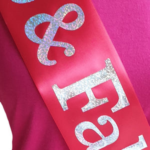 Prom Queen Holographic Sash