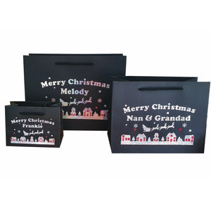 Personalised Merry Christmas Gift Wrap Bags