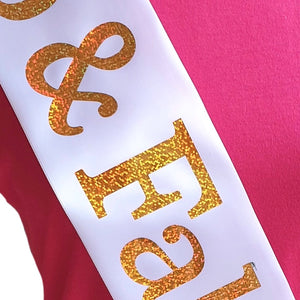 90th Birthday Holographic Star Sash