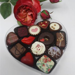 Collection of 13 Belgian Chocolates in Heart Box