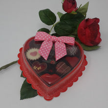Load image into Gallery viewer, Collection of 9 Belgian Chocolates in Red Heart Box