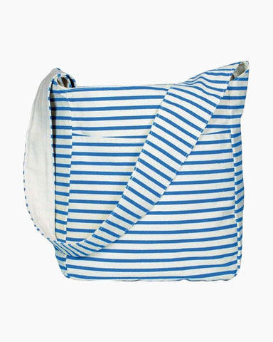 Striped Canvas Sling Bag