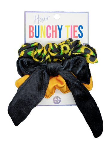 Bunchy Hair Ties Sunflower Black