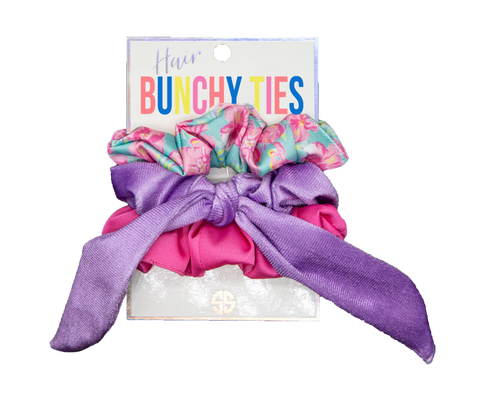 Bunchy Hair Ties Tropic