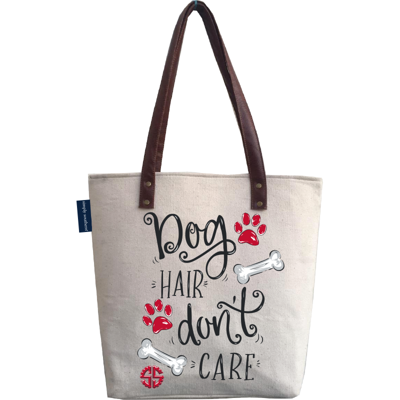 Dog Hair Don't Care Canvas Bag