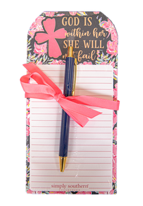 She Will Not Fail Notepad Set