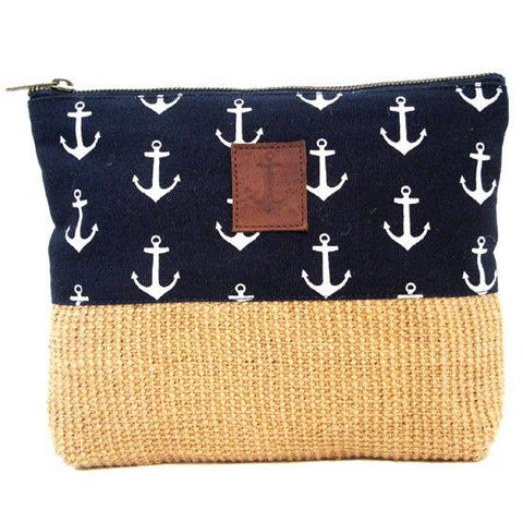 Navy Anchor Pouch