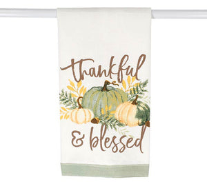Thankful & Blessed Pumpkin Tea Towel