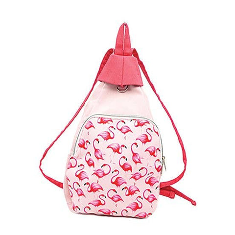 Canvas Flamingo Backpack