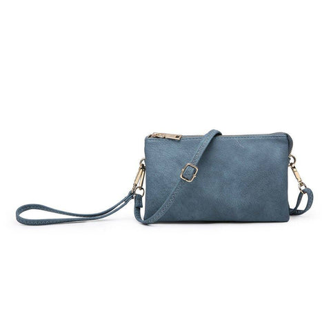 3 Compartment Crossbody/Wristlet Indigo