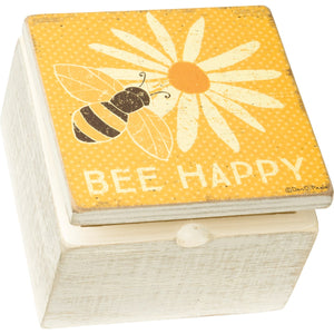 Bee Happy Hinged Box