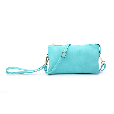 3 Compartment Crossbody/Wristlet (Turquoise Color)