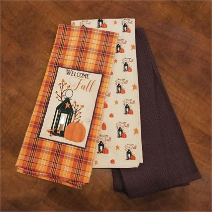 Welcome Fall Tea Towels