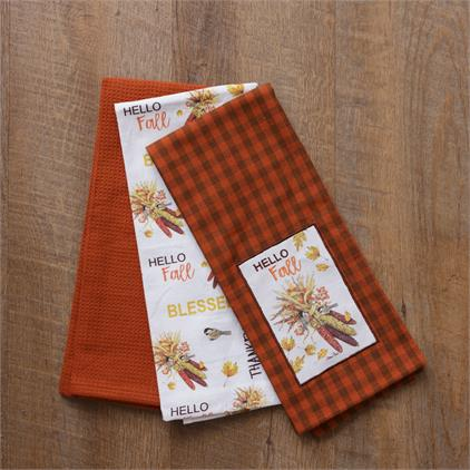 Hello Fall Tea Towels
