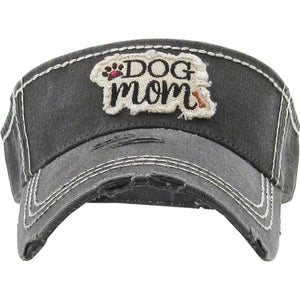 Dog Mom Charcoal Visor