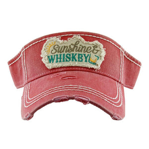 Sunshine & Whiskey Red Visor
