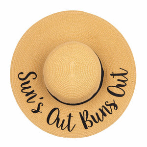 Sun's Out Buns Out Straw Hat