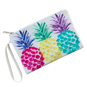 Pineapple Leather Wristlet