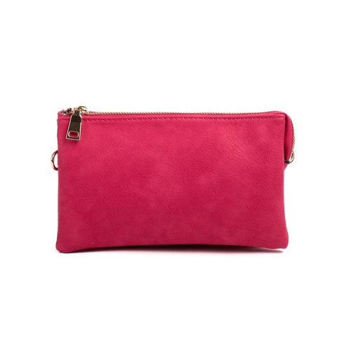 3 Compartment Crossbody/Wristlet Hot Pink