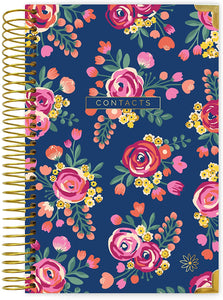Vintage Floral Hardcover Contact Book
