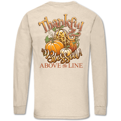 """Thankful & Blessed"" long sleeve shirt"