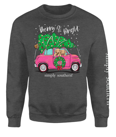 """Merry and Bright"" Crew Sweatshirt"