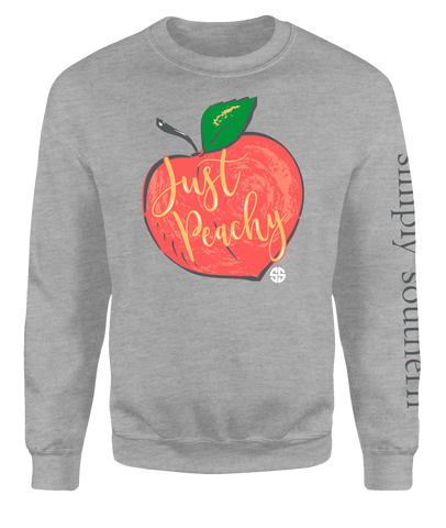 """Justy Peachy"" Crew Sweatshirt"