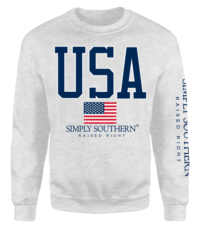 """USA"" Crew Sweatshirt"