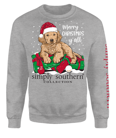 """Merry Christmas Y'all"" Crew Sweatshirt"
