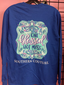 One Blessed Hot Mess Long Sleeve Shirt