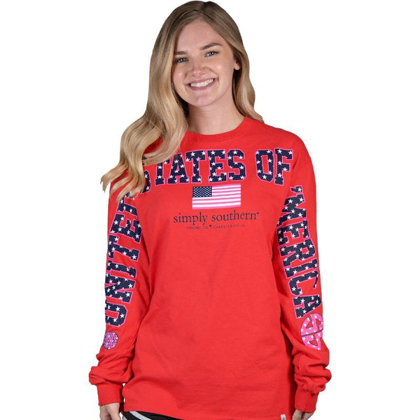 """United States of Merica"" Long Sleeve Fan Jersey"